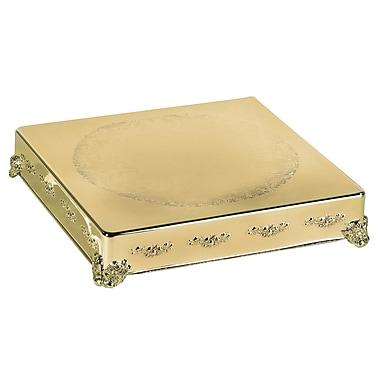 Elegance – Plateau à gâteau carré de 18 po, doré (89904G)