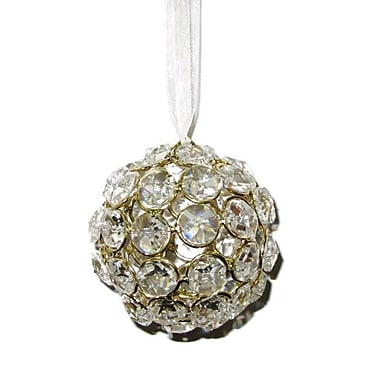Elegance Crystal Ball Ornament, Gold (72861)