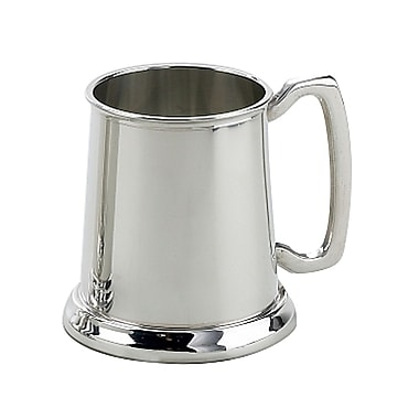 Elegance Plain Tankard, Pewter-Plated, 16 oz (81400)