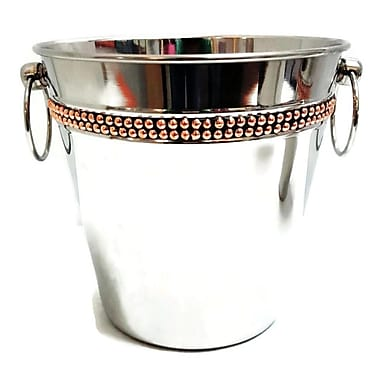 Elegance Champagne Bucket with Copper Rivet Band (70051)