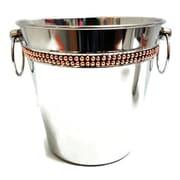 Elegance – Seau à champagne avec bande de rivets en cuivre (70051)