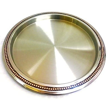 Elegance Bar Tray with Copper Rivet Band (70055)
