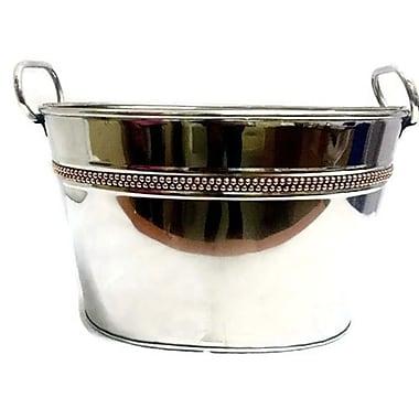 Elegance – Cuve de fête ovale avec bande à rivets en cuivre (70056)