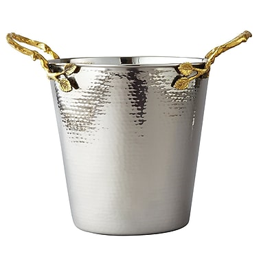 Elegance Gilt Leaf Champagne Bucket, Gold Leaf/Hammered Steel (70026)