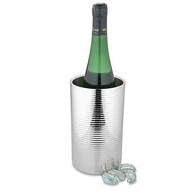 Elegance – Refroidisseur à vin Lines de 8 po de haut en acier inoxydable à double paroi (72706)