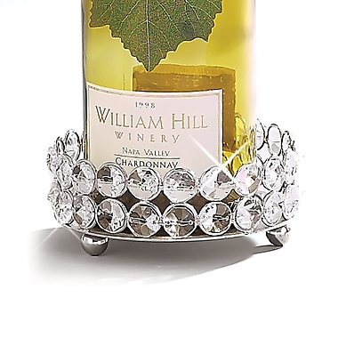 Elegance Sparkle Pillar Holder & Wine Bottle Coaster (72871)