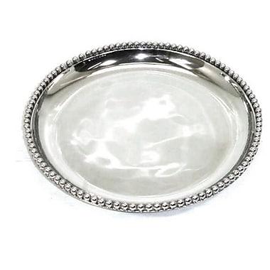 Elegance Bead Round Tray (72003)