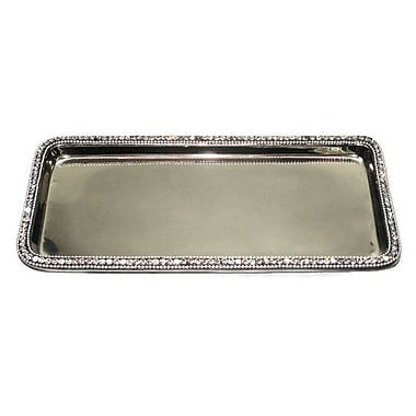Elegance Rectangular Tray with Chatons, Nickel-Plated (72834)