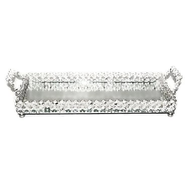 Elegance Sparkle Crystal Mirror Tray (72870)