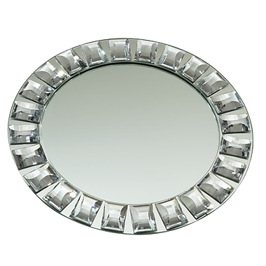 Elegance Diamond Rim Mirror Charger Plate, 13