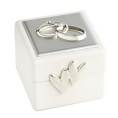 Elegance Wedding Ring Box with Wedding Ring Icon (87002)