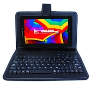 "LINSAY F7XHDBK 7"" Quad Core Tablet w/ Black Keyboard Android"