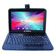 "LINSAY F10XHDBKCOBLACK 10"" Quad Core Tablet w/ Black Crocodile Style Keyboard Android"