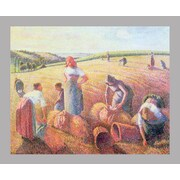 Wallhogs ''Pissarro the Gleaners'' (1889) Glossy Glossy Poster; 48'' H x 60'' W