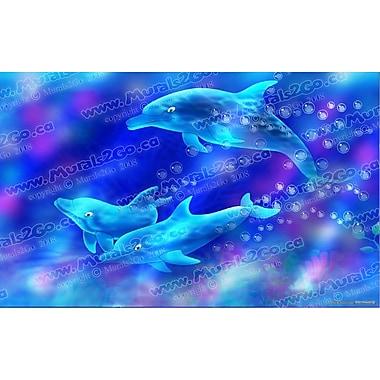 Wallhogs Dolphins Poster Wall Mural; 15'' H x 24'' W