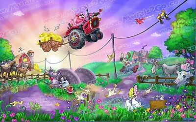 Wallhogs Funny Farm Glossy Poster; 37'' H x 60'' W
