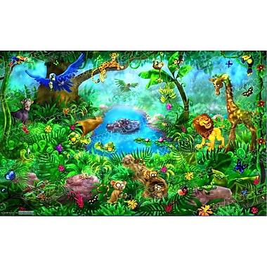 Wallhogs Jungle Wall Mural; 44.5'' H x 72'' W