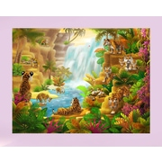 Wallhogs ''Tiger Paradise'' Glossy Poster; 36.5'' H x 48'' W