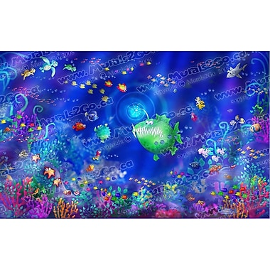 Wallhogs Sea Life Wall Mural; 37'' H x 60'' W