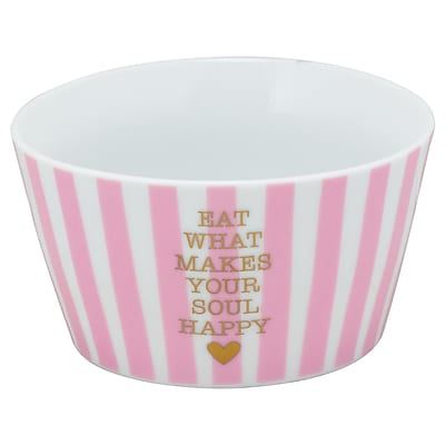 Ten Strawberry Street The Goodies 18 oz. Happy Cereal Bowl; Coral