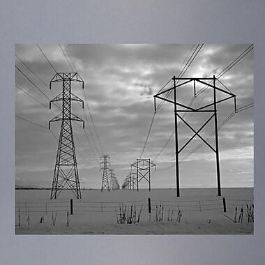 Wallhogs Batie's Power Lines Glossy Poster; 38.5'' H x 48'' W