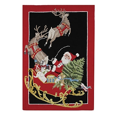 Mary Lake Thompson Santa Sled Rectangle Area Rug