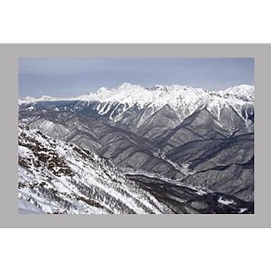 Wallhogs Snowy Mountain Scene Glossy Poster; 32'' H x 48'' W
