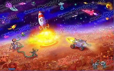 Wallhogs Space I Glossy Poster; 37'' H x 60'' W