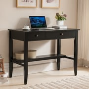 One Source Living Sutton Writing Desk; Black