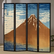Asia Direct Home Products 72'' x 72'' Mount Fuji 4 Panel Room Divider
