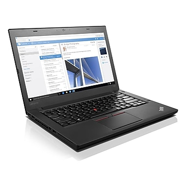 Lenovo – ThinkPad T460 20FN002VUS Netbook 14 po, Intel Core i7-6600U 2,6 GHz, SSD 256 Go, SDRAM DDR3L 8 Go, Windows 7 Pro