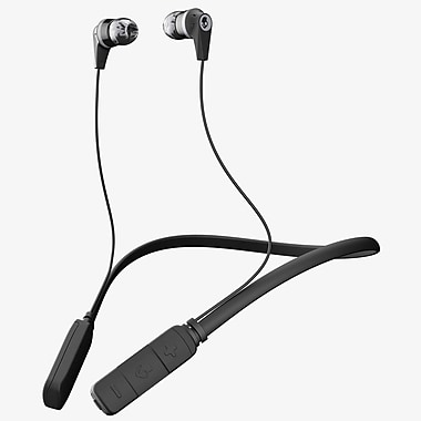 Skullcandy Ink'd Wireless Around the Neck Bluetooth Earbuds, Black/Grey (S2IKW-J509)