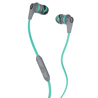 Skullcandy Ink'd 2 Earbuds, Gray/Mint (S2IKJY-528)