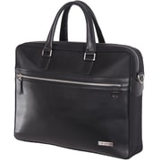 "Gino Ferrari Premier 16"" Leather Trim Laptop Bag"