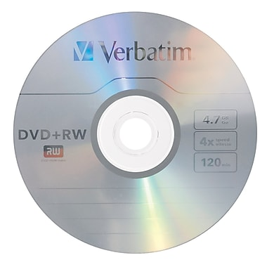 Verbatim 4.7 GB 4x DVD+RW, Branded Surface, Jewel Case (94520)