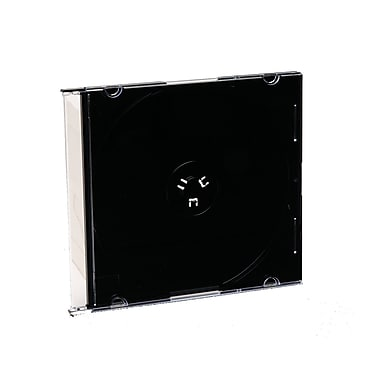 Verbatim CD/DVD Slim Jewel Cases, Black, 200/Pack (748931)