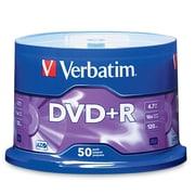 Verbatim – Disques vierges 16x AZO DVD+R, capacité de 4,7 Go, surface étiquetée, cylindre, 50/paquet (95037)