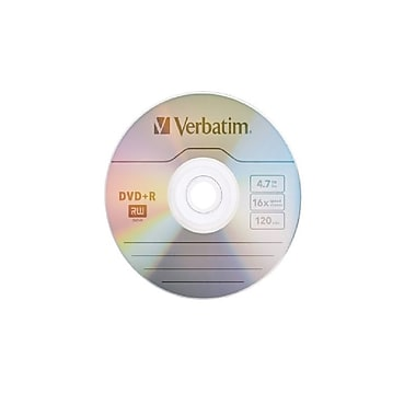 Verbatim 4.7 GB 16x AZO DVD+R, Branded Surface, Slim Cases, 20/Pack (95038)