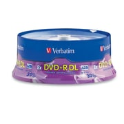Verbatim 8.5 GB 8x DVD+R, Branded Surface, Spindle, 30/Pack (96542)