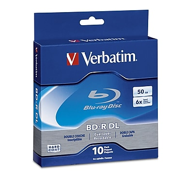 Verbatim 50 GB 6x BD-R, Branded Surface, Spindle, 10/Pack (97335)