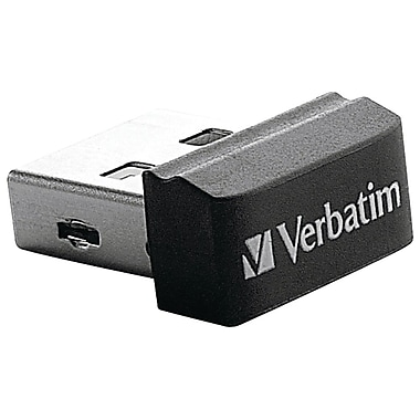Verbatim Store 'n' Stay Nano USB Flash Drive, Black
