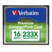 Verbatim – Carte mémoire CompactFlash Premium 233x de 16 Go (97982)