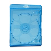 Verbatim Blu-Ray & DVD Cases, Blue, 30/Pack (32856X)