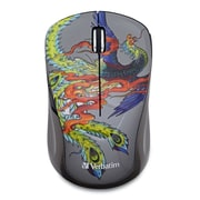 Verbatim Tattoo Series Wireless Multi-Trac Blue LED Mouse, Phoenix (98613)