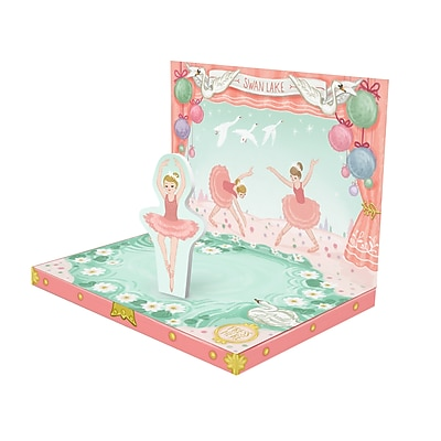 Music Box Card, Swan Lake, 6.75
