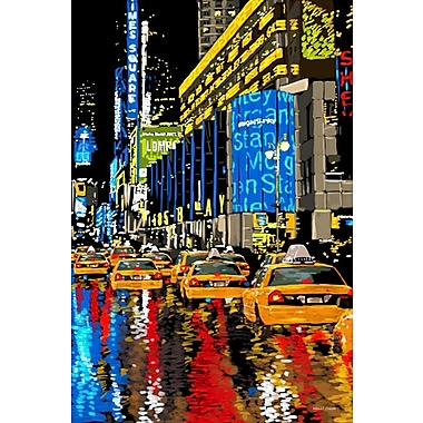 Latitude Run 'Rainy Nights Times Square New York' Graphic Art on Wrapped Canvas