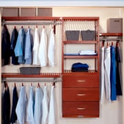 John Louis Home 16'' Deep Deluxe 120'' W Closet System; Red Mahogany