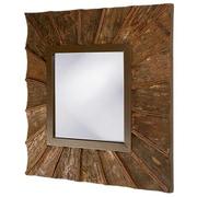 GraftonHome Coconut Shell Veneer Square Wall Mirror