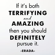 Belvedere Designs LLC Quotes  Terrifying and Amazing Wall Decal