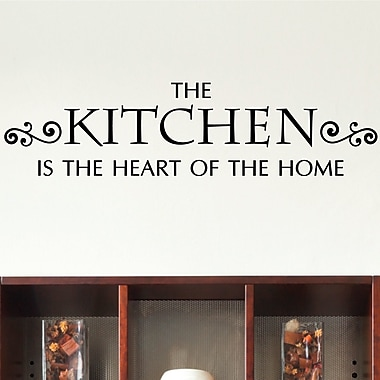 Belvedere Designs LLC Quotes Kitchen Heart of Home Wall Decal